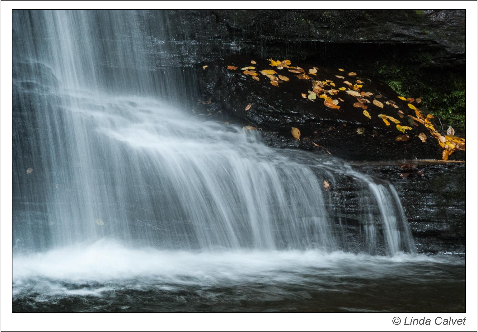 Close up detail of Bridal Veil Falls