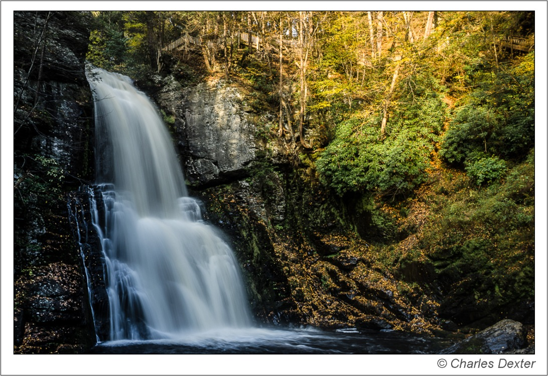 Late afternoon shadow on Bushkill Falls