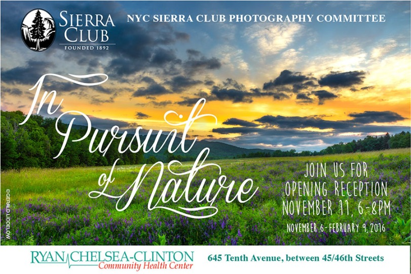 Invitation to In Pursuit of Nature Sierra Photo NYC exhibit