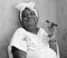 Black and white photo of woman smoking cigar © Andy Katz