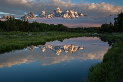 Sunrise on the Grand Tetons © David Akoubian