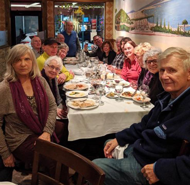 Post-NYBG dinner at Emilia's, November 2019 contributed by Nancy Langer