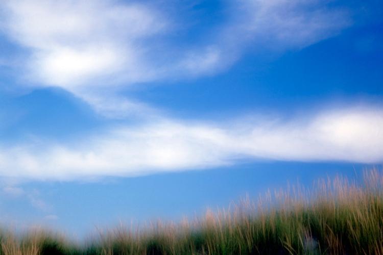 Clouds and Grass - Double Exposure © John Wazeter