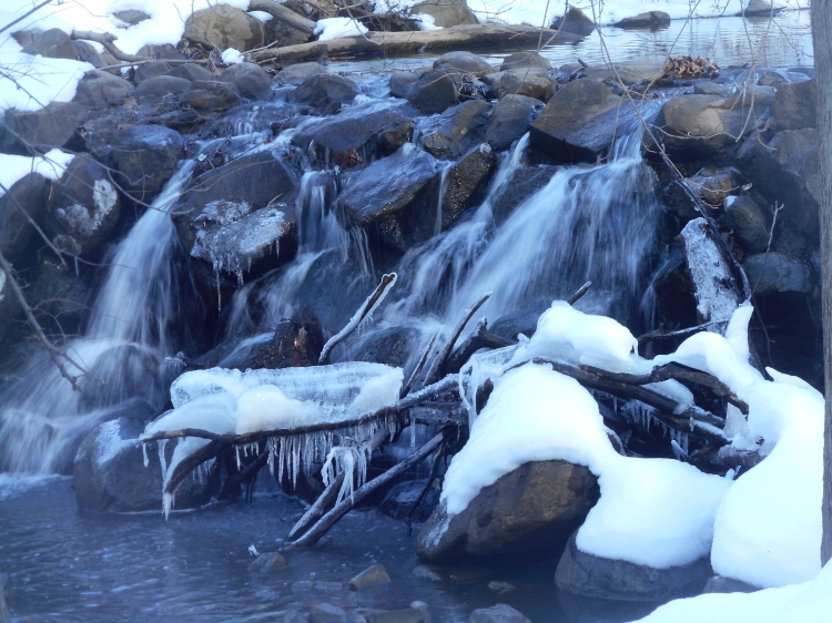 © Louise Luger, Frozen Waterfal, Staten Island, NYC