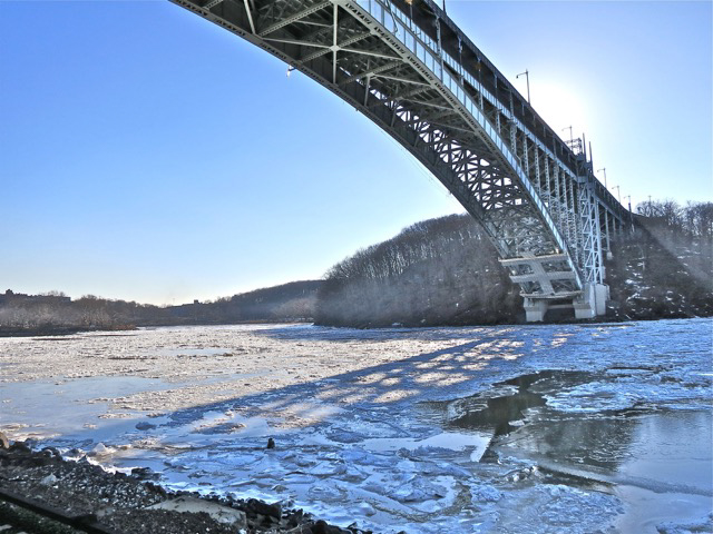 © Anneliese Scheef, January Floes, Henry Hudson Bridge, NYC